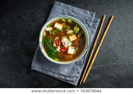 традиционный Японский суп Тофу весны лука Сток-фото © karandaev