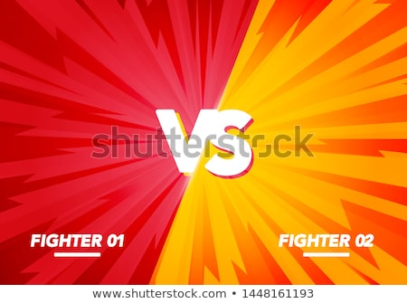 comic style versus vs battle background design Stock photo © SArts