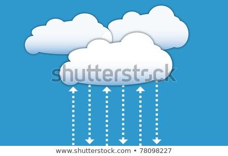 Felhő adat űrlap diagram üzlet számítógép Stock fotó © fotoscool
