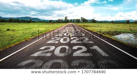 Stok fotoğraf: Vizyon · gelecek · yol · işareti · yüksek · karar · grafik