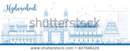 Skyline синий туризма историческая архитектура Сток-фото © ShustrikS