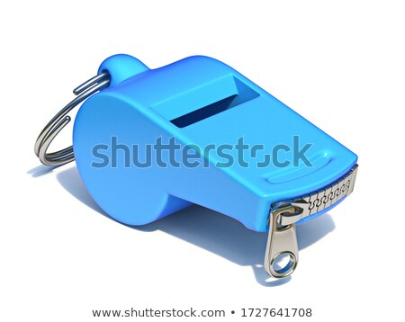 Blue whistle with a closed zipper 3D Stock photo © djmilic
