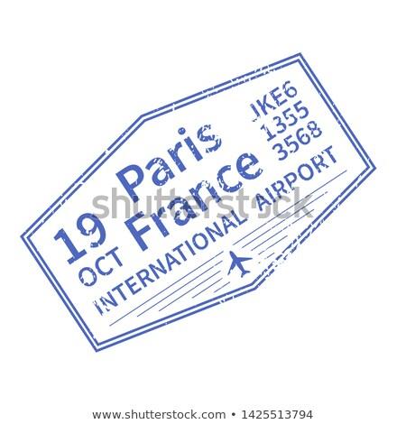París internacional viaje visado sello blanco Foto stock © evgeny89