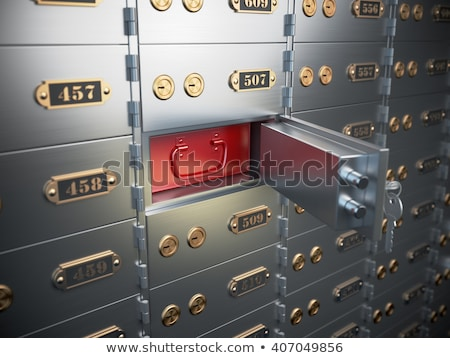 Safe Deposit Box Open Closed Stock photo © albund