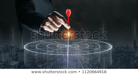 Hitting Dart Target with Arrow, Business Success Stock photo © robuart