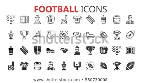Ticket On Football Game isometric icon vector illustration Stock photo © pikepicture