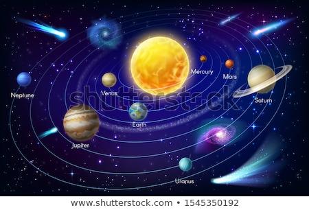 Galaktyki ilustracja słońce ziemi przestrzeni Zdjęcia stock © bluering