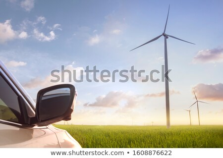 Car and wind turbine Stock photo © ldambies