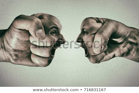 confrontation · ordinateur · mère · adolescent · fille · famille - photo stock © timbrk