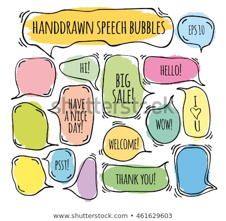 Set of doodle speech bubbles  stock photo © orson
