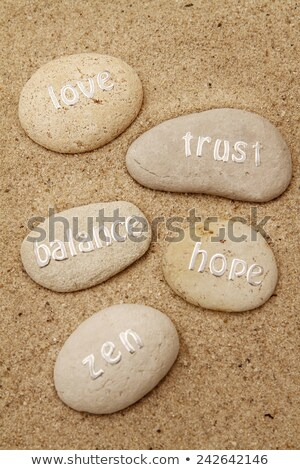 five affirmation stones stock photo © morrbyte