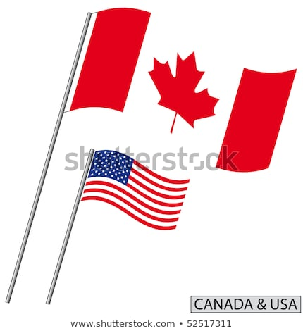 US flag framed by leaves Stock photo © backyardproductions