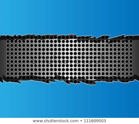 Vector ripped blue metal paper  Stock photo © orson