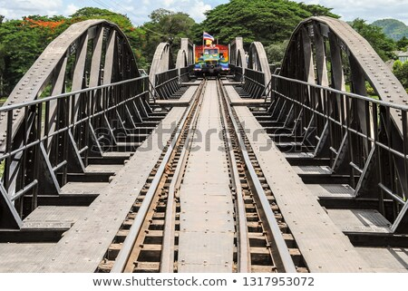 Stock photo: Old Iron Bridge over Forest River