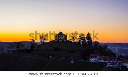 Mausoleum haven san juan eiland ingesteld bos Stockfoto © searagen