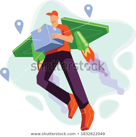 Winged deliveryman Stock photo © carbouval