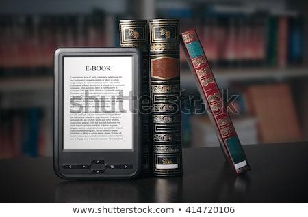 ebook · stand · aislado · Biblia · amarillo · electrónico - foto stock © alexandre17