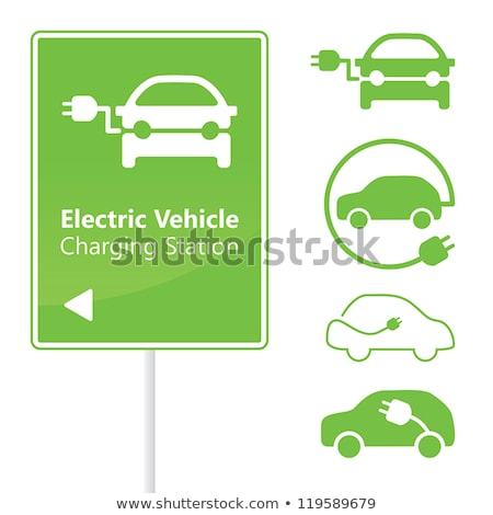 electric powered car symbol stock photo © oblachko