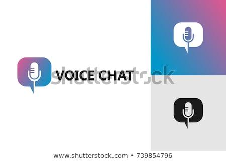 Logo trzy biuro projektu komunikacji dźwięku Zdjęcia stock © davisales
