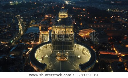 statue of st peter at night stock photo © ca2hill