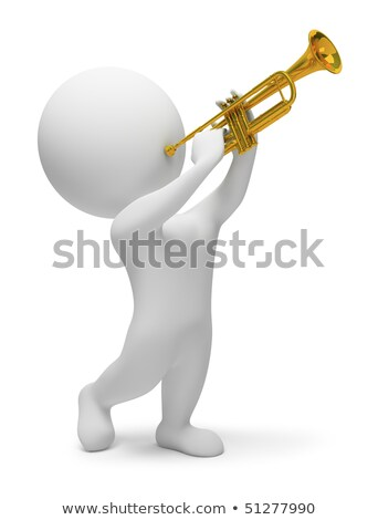 3d small people - trumpet Stock photo © AnatolyM