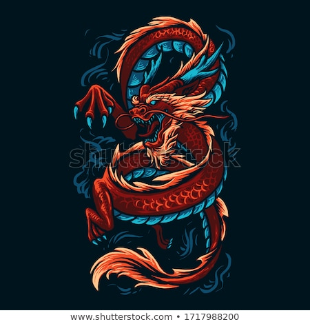 red dragon vector stock photo © beaubelle