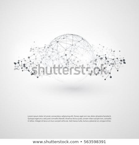 Сток-фото: сфере · облаке · слов · признаков · белый