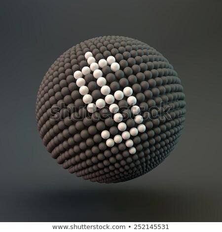 Foto stock: Dollar Sign Sphere