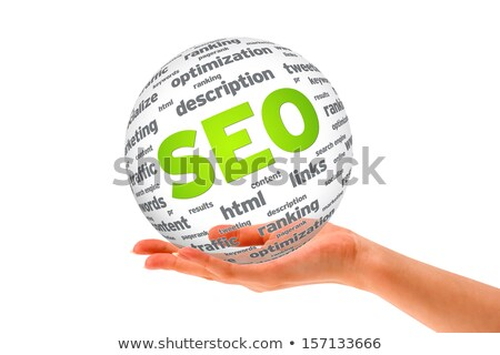 Foto d'archivio: Seo · sfera · parole · bianco · business · marketing