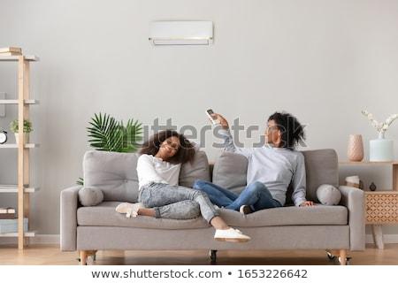 Opslaan woonkamer decoratief vacuüm hout muur Stockfoto © justinb