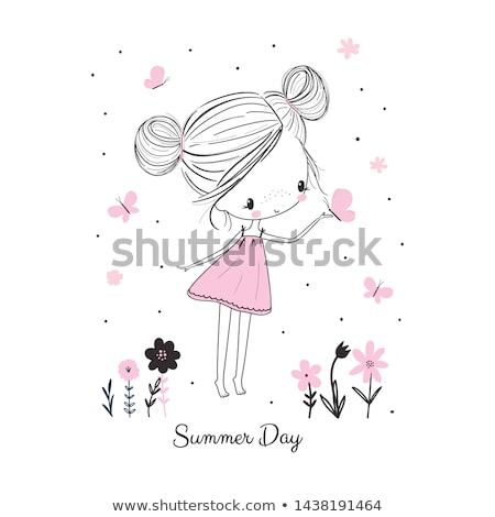 Little girls drawing Stock photo © photography33