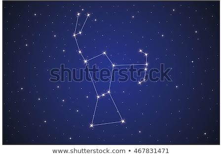 Constelação real céu noite estrela preto Foto stock © Suljo