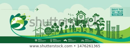 Stock photo: abstract green eco tree