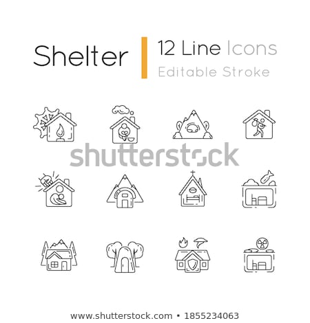 Symbool overgang home illustratie abstract huis Stockfoto © -Baks-