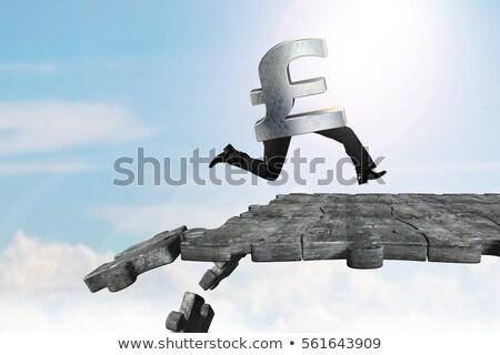metálico · quebra-cabeça · peça · isolado · branco · 3D - foto stock © kacpura