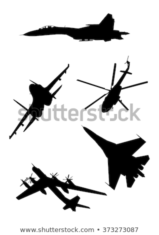 avião · silhuetas · luz · retro · vintage · ar - foto stock © mechanik