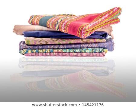thai fabric stack Stock photo © smithore