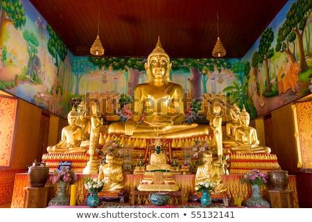 Stok fotoğraf: Tarihsel · park · Tayland · tapınak · altın · dua