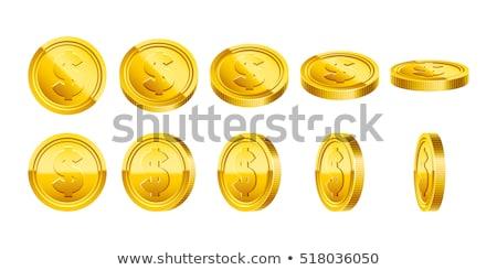 Stockfoto: Dollar · gouden · munten · business · geld · succes