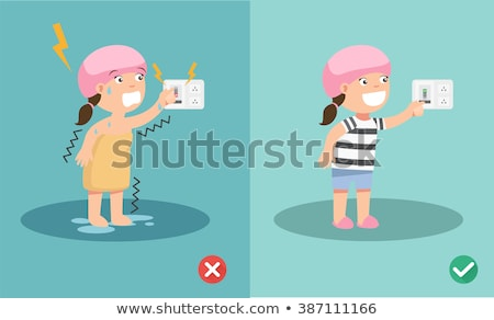 Stock photo: Woman electrocuted