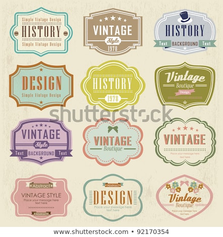 vector set of vintage labels stock photo © dahlia