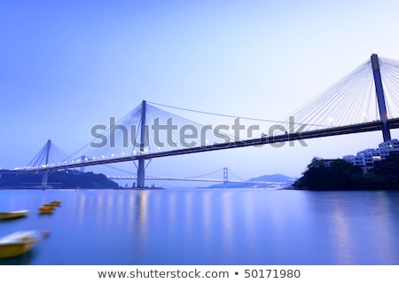 Stock photo: Abstract image of Ting Kau Bridge