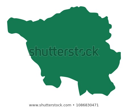 Map of Saarland stock photo © rbiedermann