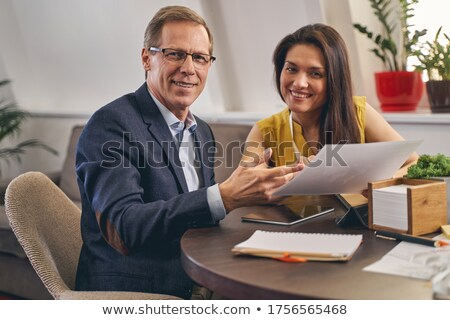 businessman and his assistant working on project Stock photo © photography33