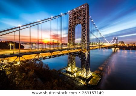 Washington híd keresztek folyó New Jersey New York Stock fotó © alex_davydoff