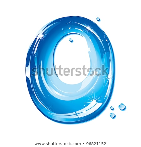 Stock photo: Abc Series - Water Liquid Letter - Capital O -