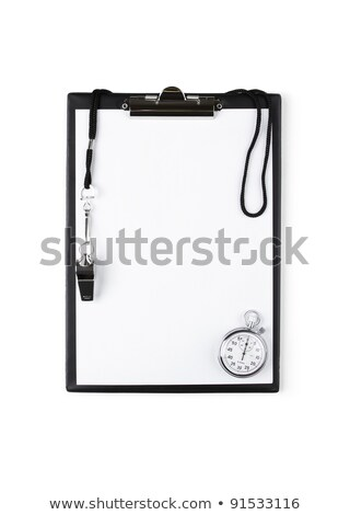Basketball, Whistle and Blank Clipboard stock photo © saje