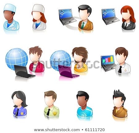 pessoas · ícones · estilo · rosto · empresário · homens - foto stock © Winner