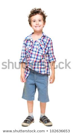 ondeugend · behaard · weinig · jongen · shorts · shirt - stockfoto © pekour