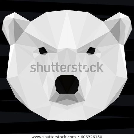 White Polar Bear Vintage Grunge Poster Stock photo © benchart